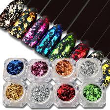 <b>Irregular Aluminum Nail Glitter</b> Flakes Sequins Powder Magic Mirror ...