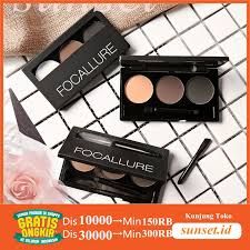 Focallure <b>Eyebrow Powder 3 Color 3</b> In One With Mirror+Brush ...