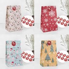 QIFU Kraft Paper Bags Popcorn Bag Candy Box <b>Christmas</b> Goodie ...