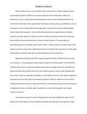 S         Writing Assignment  International Trade Article docx     Course Hero   pages Andrew Jackson Essay docx