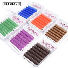 <b>GLAMLASH</b> Natural Soft Purple Blue Brown Green Red Color ...