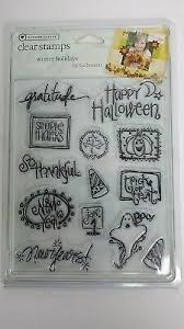 Autumn Leaves <b>Clear Rubber</b> Stamps WINTER HOLIDAYS ...
