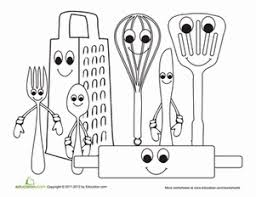 Small Picture Kitchen Utensils Worksheet Educationcom