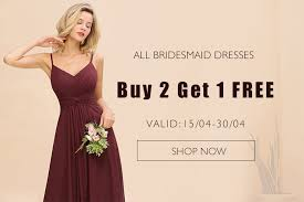 Bridesmaid dressess on sale, buy 2 get one free promotion | BmBridal