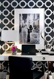 white office decors black and white office framed photos sleek designer style better decorating bible blog chic home office white