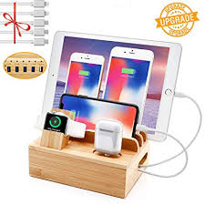 Bamboo Charging Station for Multiple Devices ... - Amazon.com