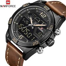 <b>Watch NAVIFORCE Fashion</b> Quartz Wrist <b>Watches Mens</b> Leather ...