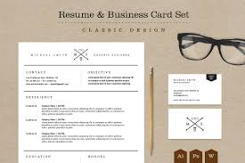 50 creative resume templates you won t believe are microsoft word classic resume business card set