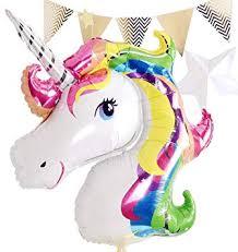 Glanzzeit 33 Inch Rainbow <b>Unicorn Foil Helium Balloon</b> for Birthday