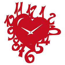 Orologio da parete a forma di cuore