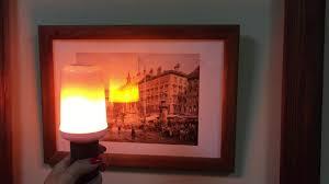 Светодиодная <b>лампа</b> с эффектом пламени (имитация огня ...