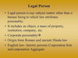 Resultado de imagen de legal person