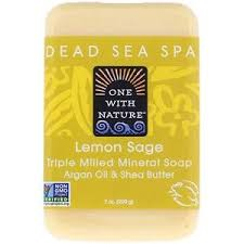 One with Nature, <b>Triple Milled Mineral Soap</b> Bar, Lemon Sage, 7 oz ...