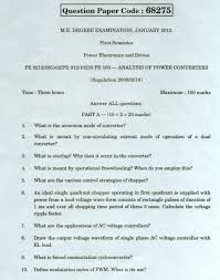 anna university chennai pe 9212 analysis of power converters anna return to question paper search