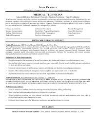 free medical medical technician resume example sterile processing technician resume example