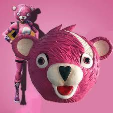 Pink Bear Mask Game Battle Royale Cosplay latex mask Halloween ...