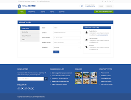 real estate psd website template com real estate psd website template