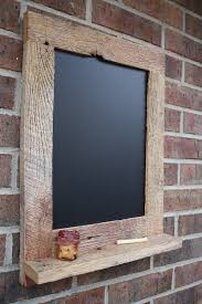 reclaimed barn wood rustic chalkboard with shelf for j to make me for kitchen w barn wood ideas