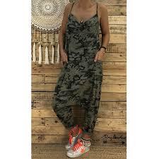 2018 <b>Summer Women Sexy Jumpsuits</b> Camouflage Print Spaghetti ...
