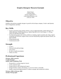 excellent graphic designer resume template example key skills excellent graphic designer resume template example key skills and highlighting strength