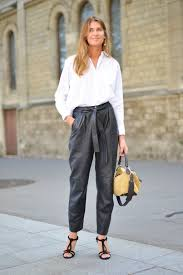 stylish and professional outfits to wear on a job interview cold weather winter interview outfit leather pants blouse
