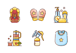 <b>Baby Line</b> Color - Parents Job icons by Chanut is Industries