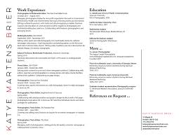 resume katye martens brier photography brier resume website