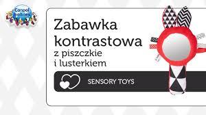 ZABAWKI SENSORYCZNE - z piszczkiem i lusterkiem - Sensory <b>Toys</b>