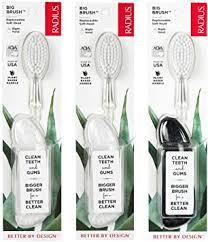 RADIUS <b>Original</b> Right Hand <b>Toothbrush</b>, <b>Soft</b> Bristles, Assorted ...