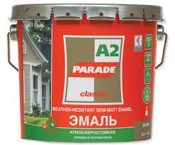 <b>Эмаль алкидная PARADE А2</b> База А Бел.матовая 0.75л | Стройгид
