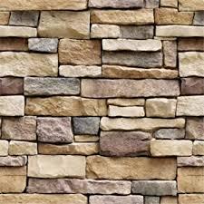 """Yancorp <b>18</b>""""x120"""" Stone Brick Wallpaper Stick On Self-Adhesive ..."""