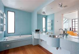 blue bathroom tile ideas:  splendid fashionable blue bathroom paint color with light