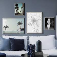 Online Shop Sea Wave Beach <b>Palm Tree</b> Car Rome Map Wall Art ...