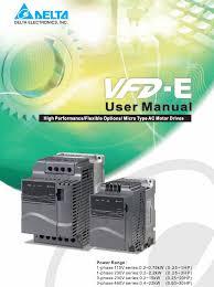 Преобразователи частоты серии VFD-E Руководство по ...