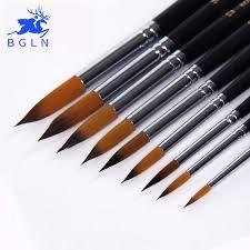 Sale <b>BGLN</b> 9pcs Long Handle Nylon Watercolor Paint Brushes ...