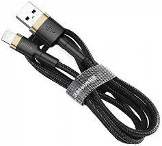 Кабель <b>Baseus cafule Cable</b> USB For Lightning 2A 3m Gold+Black ...