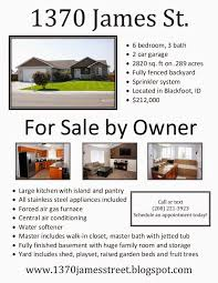 welcome to james street for by owner in blackfoot