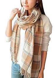 Wander Agio Women's <b>Fashion</b> Long Shawl Big Grid <b>Winter</b> Warm