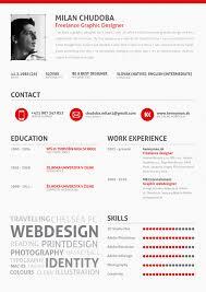examples of creative graphic design resumes   inspirationfeedmilan chudoba cv