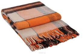"<b>Плед Vladi</b> ""<b>Эльф</b>"", цвет: белый, оранжевый, коричневый, 170 х ..."