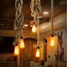 <b>Vintage</b> Rope <b>Pendant light</b> Hemp Edison <b>bulb</b> Decor E27 <b>pendant</b> ...