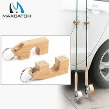 Maxcatch Fishing Rod <b>Holder</b> & <b>Stand</b> Natural Bamboo Magnetic ...