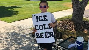Kid selling '<b>ICE COLD BEER</b>' gets police attention   KUTV