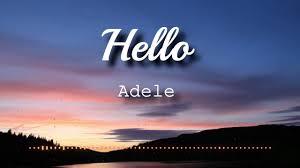 Adele - <b>Hello</b> (Lyrics Video) - YouTube