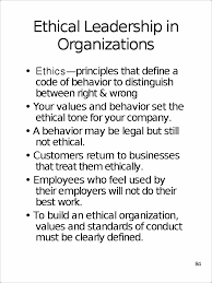 concern control 83 ethical leadership in organizations ethics view full document
