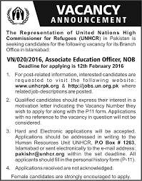 education officer jobs in in unhcr st  associate education officer jobs in in unhcr 31st 2016
