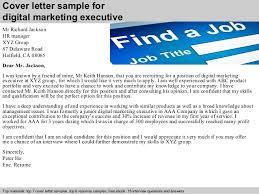Digital marketing executive cover letter ... 2. Cover letter sample for digital marketing ...