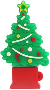 Christmas Tree <b>USB Flash Drive</b> 32GB, <b>Gift Memory Stick</b> with Chain ...