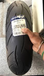 Black <b>Metzeler Sportec M5</b> 150/60-<b>R17</b>, Rs 5350 /unit, Sri Balaji ...