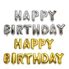 Buy Baking <b>birthday party arranged</b> aluminum foil <b>letters</b> happy ...